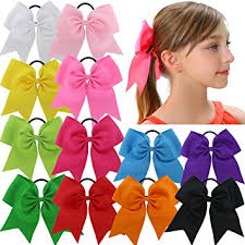 hair bow tie qinghan 12pcs 7 5 baby girl large cheer hair bows