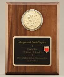retirement plaque wording custodial maintenance medallion plaque 22a