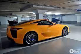 orange lexus lfa how does the lexus lfa nurburgring edition look in orange