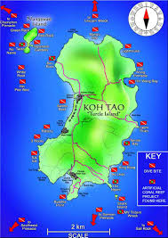 Coral Reefs Of The World Map by Dive Sites In Koh Tao Scuba Diving Koh Tao Roctopus