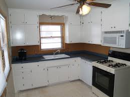 L Shaped Island In Kitchen Dark Grey White L Shaped Kitchen Islands Under Brown Ceiling Fan