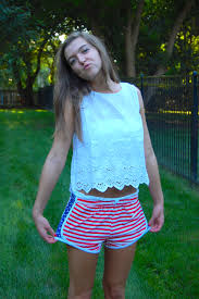 American Flag Workout Shorts Mixing My Love For Krass U0026 Co America Ootd Daily Dose Of Charm