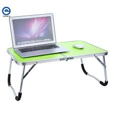 Folding Bed Tray Desk Compact Foldable Computer Laptop Desk With 3 Drawers Office