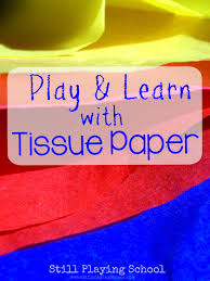 tissue paper projects crafts and activities for kids still
