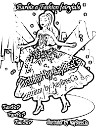 barbie in a fashion fairytale coloring in pages