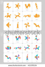 printable tangram tangram candle stock images royalty free images vectors