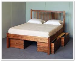 charming queen platform bed with drawers plans and storage bed