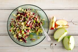 great thanksgiving salads chopped salad with apples walnuts and bitter lettuces recipe