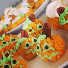 Rice Crispy Treat Pumpkins Cooking With Kids Aysontespli U0027s Kitchen