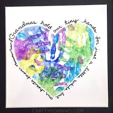 heart handprint canvas for grandma crafty morning