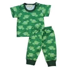 infant pajama set baby dinosaur gardening