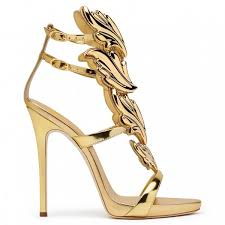 gold dress shoes open toe stiletto heels sandals for big day for