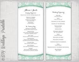 order of ceremony for wedding program wedding ceremony order of service template business template