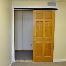 Outside Mount Sliding Closet Doors Johnson Hardware 2610fb Bronze Wall Mount Sliding Door