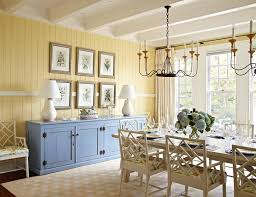 Blue And Yellow Home Decor by Blue And Yellow Drapes Dining Room Beach Style With Window Wall