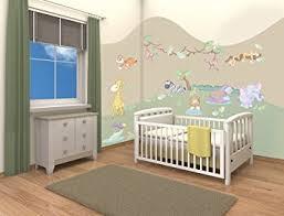 chambre bébé safari walltastic kit de décoration pour chambre de bébé thème safari dans