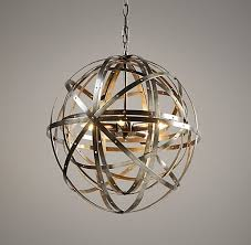 Sphere Ceiling Light Orbital Sphere Small Pendant Pewter