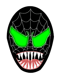 black spiderman face drawing