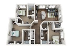 Bedroom Floor Plans The District On Apache Floor Plans Tempe Az Apartments Near