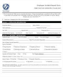 generic incident report template employee incident reports employee incident report form employee
