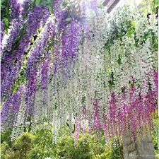 wisteria home decor 2018 silk artificial hanging flower silk wisteria plants fake