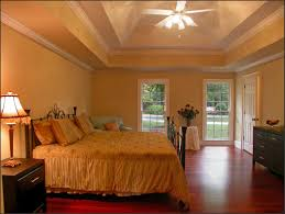 Couple Bedroom Ideas by Chic Ceiling Fan Lighting Plus Metal Bed Design Also Romantic