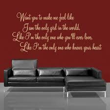 want you to make me feel like rihanna lyric wall decal sticker cream rihanna lyric in a sitting room