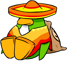 cartoon sombrero image sombrero and poncho june 2006 penguin style png club