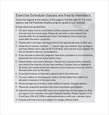 sample exercise plan template 8 free documents download in pdf
