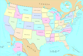 North America Map With States by Map Of America With States At America Map With States