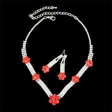 wedding necklace designs vogue design siam rhinestones wedding necklace set