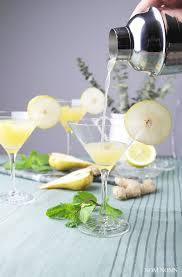 martini pear pear gin martini with ginger u2022 nom noms food