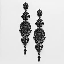gunmetal chandelier earrings black crystal chandelier earrings red and black crystal chandelier