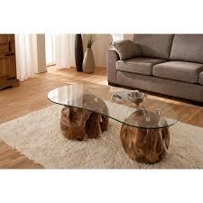 Wohnzimmertisch Oval Teakholz Couchtisch Mit Glasplatte Wendland Moebel De Stilvolle