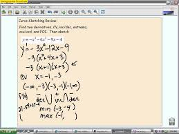 ap calculus quiz review 3 4 3 6 curve sketching youtube