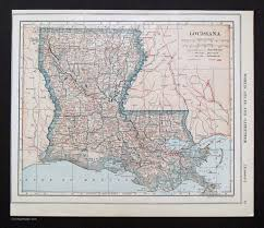 Maps Of Louisiana by States H M Vintage Maps