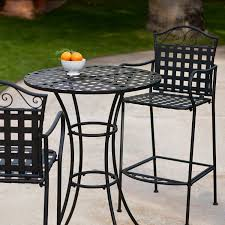 Small Patio Furniture Set by Amazon Com Belham Living Capri Wrought Iron Bar Height Bistro