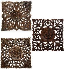 teak wood carved wall plaques floral wood wall panels wall