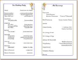 Wedding Program Sample Template Sample Church Program Sample Order Service Catholic Wedding 21