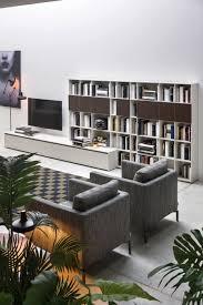 Wohnzimmer Sessel Design Gemütlich Wohnzimmer Mit Sessel Bücherregal Tv Lowboard Und