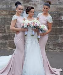 fitted bridesmaid dresses e284 sleeve backless sweep fitted