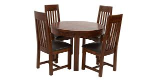 Round Extendable Dining Table Shiraz Round Extending Dining Table U0026 Set Of 4 Slat Back Chairs