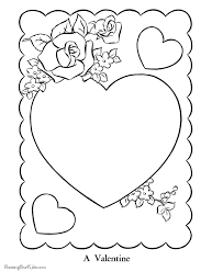 valentines heart coloring pictures valentines hearts
