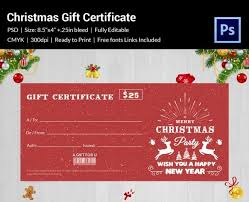 100 certificate templates psd christmas gift certificate