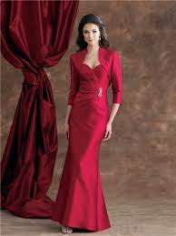 sweetheart burgundy satin mother of the bride evening dress with
