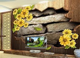 mural on wood retro dimensional decorative brick wall mural wallpaper wood