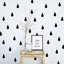 raindrop vinyl wall stickers black and white instagram design new