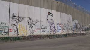 symbolic murals painted on the separation wall in bethlehem in the symbolic murals painted on the separation wall in bethlehem in the west bank palestinian territories stock video footage videoblocks