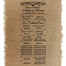 wedding programs rustic rustic wedding programs gifts on zazzle