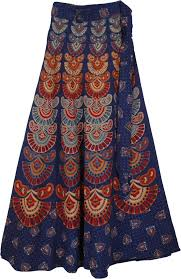 boho wrap mexico boho blue wrap skirt clothing wrap around skirt